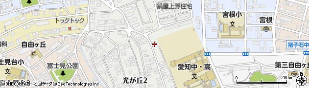愛知県名古屋市千種区光が丘周辺の地図