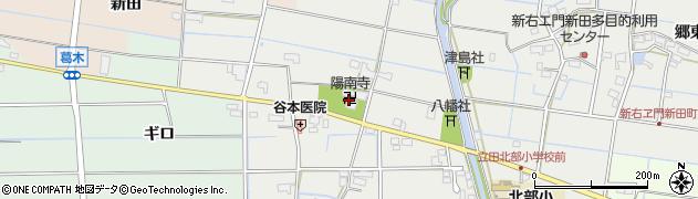 陽南寺周辺の地図