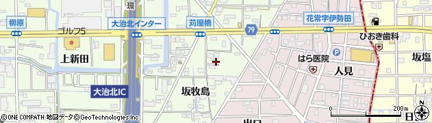 愛知県大治町(海部郡)西條(坂牧島)周辺の地図
