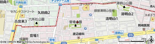 愛知県名古屋市千種区萱場周辺の地図