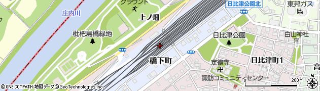 愛知県名古屋市中村区橋下町周辺の地図