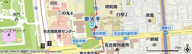 愛知県名古屋市東区三の丸周辺の地図