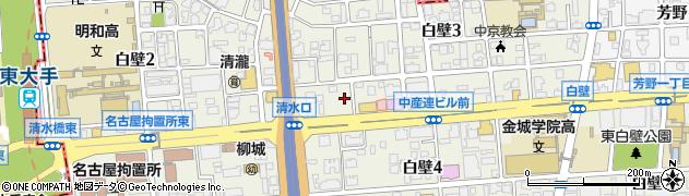 愛知県名古屋市東区白壁周辺の地図