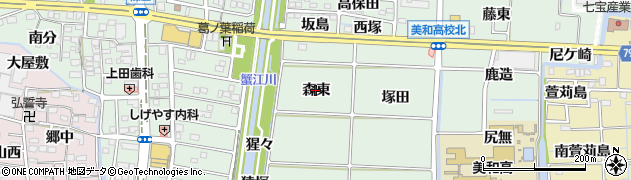 愛知県あま市篠田(森東)周辺の地図