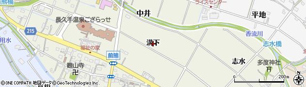 愛知県長久手市前熊(溝下)周辺の地図