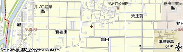愛知県津島市宇治町(亀田)周辺の地図