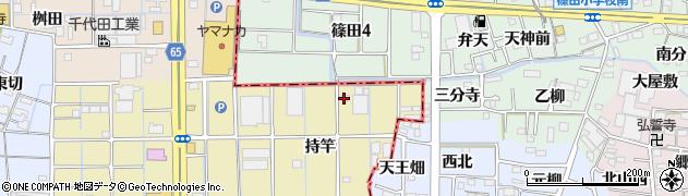 愛知県津島市神守町(持竿)周辺の地図