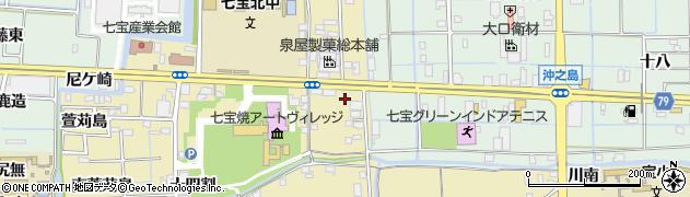 愛知県あま市七宝町遠島(千之島)周辺の地図