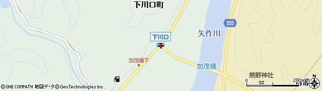下川口周辺の地図