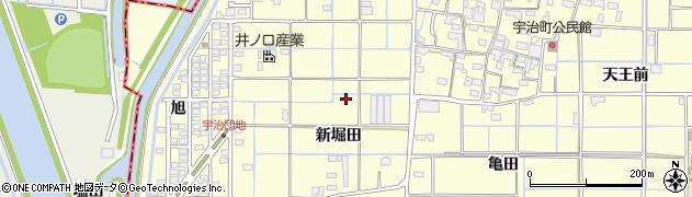 愛知県津島市宇治町周辺の地図
