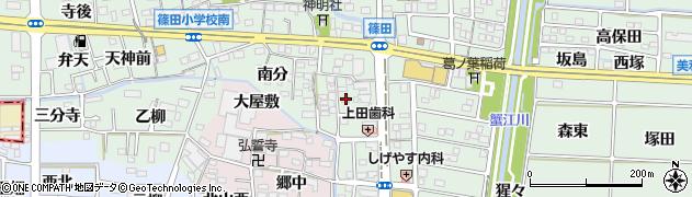 愛知県あま市篠田(一之沢)周辺の地図