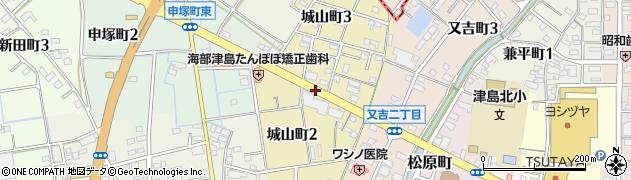愛知県津島市城山町周辺の地図