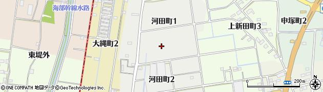 愛知県津島市河田町周辺の地図