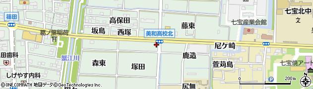 愛知県あま市篠田塚田周辺の地図