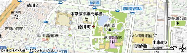 愛知県名古屋市東区徳川町周辺の地図