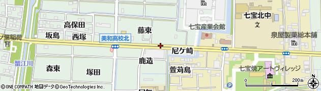 愛知県あま市篠田(東六)周辺の地図