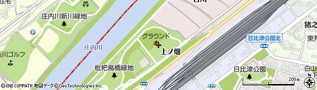 愛知県名古屋市中村区日比津町(上ノ畑)周辺の地図