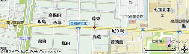 愛知県あま市篠田(西六)周辺の地図