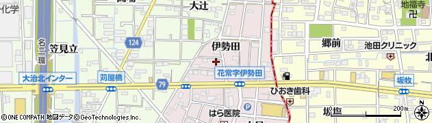 愛知県大治町(海部郡)花常(伊勢田)周辺の地図