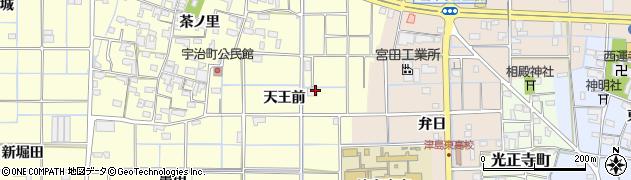愛知県津島市宇治町(天王前)周辺の地図