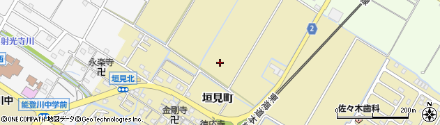 滋賀県東近江市垣見町周辺の地図
