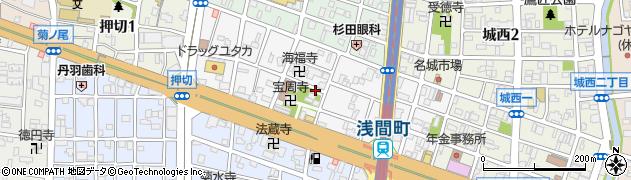 愛知県名古屋市西区浅間周辺の地図