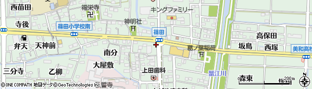 愛知県あま市篠田五之坪周辺の地図
