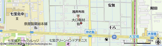 愛知県あま市七宝町沖之島(九之坪)周辺の地図
