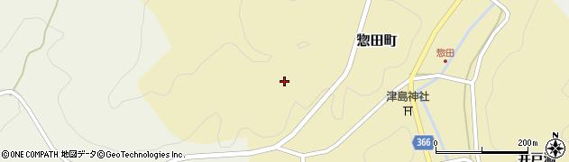 愛知県豊田市惣田町(祢畑)周辺の地図