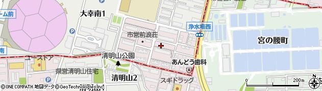 愛知県名古屋市東区前浪町周辺の地図