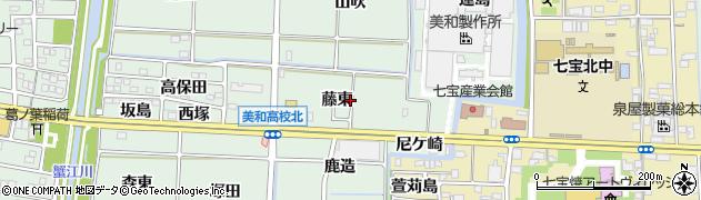 愛知県あま市篠田(藤東)周辺の地図