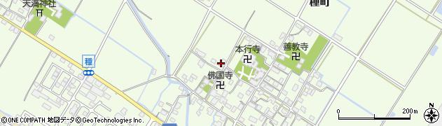 滋賀県東近江市種町周辺の地図