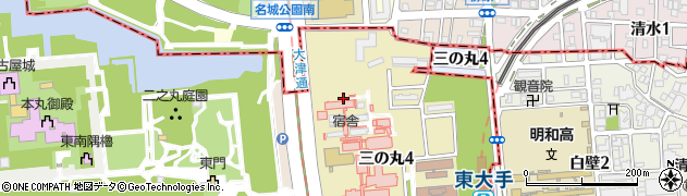 病院職員宿舎周辺の地図