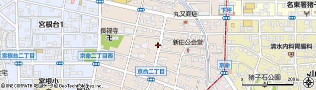 愛知県名古屋市千種区京命周辺の地図