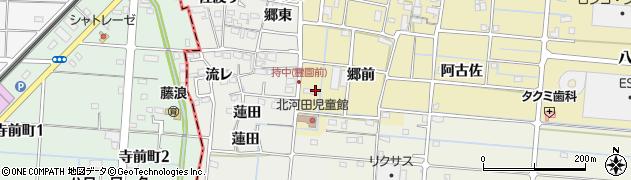 愛知県愛西市北河田町(蓮田)周辺の地図