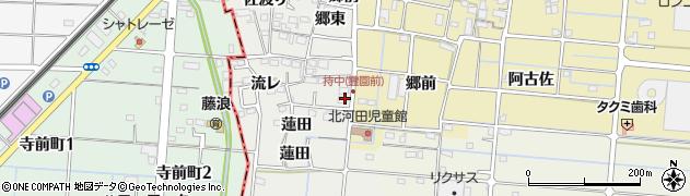 愛知県愛西市持中町(郷前)周辺の地図