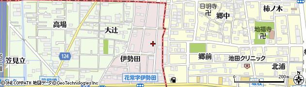 愛知県大治町(海部郡)花常(本郷西)周辺の地図