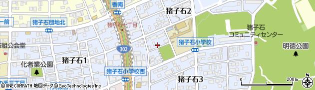 愛知県名古屋市名東区猪子石周辺の地図