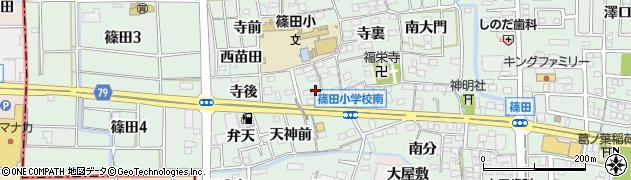 愛知県あま市篠田(向島)周辺の地図