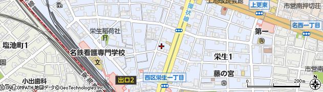 愛知県名古屋市西区栄生周辺の地図