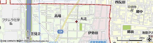 愛知県大治町(海部郡)西條(大辻)周辺の地図