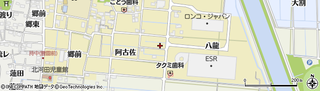 愛知県愛西市南河田町周辺の地図