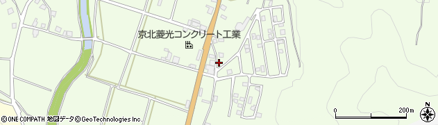 京都府京都市右京区京北下弓削町(金屋)周辺の地図