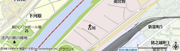 愛知県名古屋市中村区日比津町(古川)周辺の地図