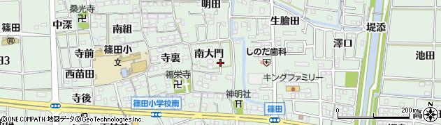 愛知県あま市篠田周辺の地図