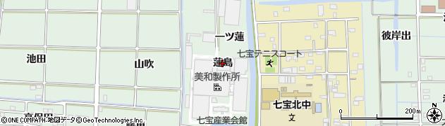 愛知県あま市篠田(蓮島)周辺の地図