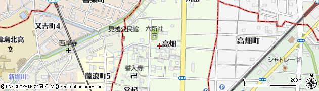 愛知県愛西市見越町周辺の地図
