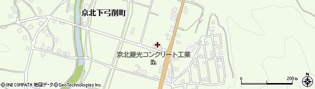 京都府京都市右京区京北下弓削町(井下)周辺の地図