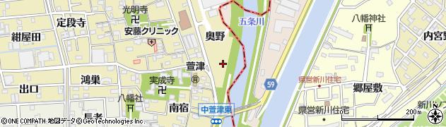 愛知県あま市中萱津(奥野)周辺の地図