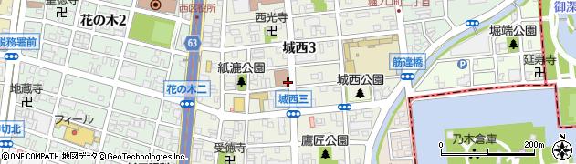愛知県名古屋市西区城西周辺の地図